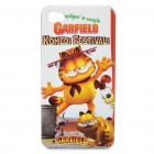 Cute Garfield Pattern Protective Case for iPhone 4S - White + Yellow