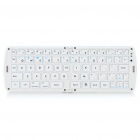 Portable Folding Bluetooth V3.0 66-Key Keyboard - White