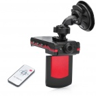 "2.0"" TFT LCD Night Vision Car DVR Camcorder with USB/Micro SD/HDMI/DC IN Slot - Red + Black"