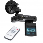 "2.5"" TFT Night Vision Car DVR Camcorder with USB/SD/HDMI/AV OUT Slot - Black"