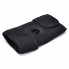 Outdoor 3-Belt Velcro Knee Pad Guard - Black