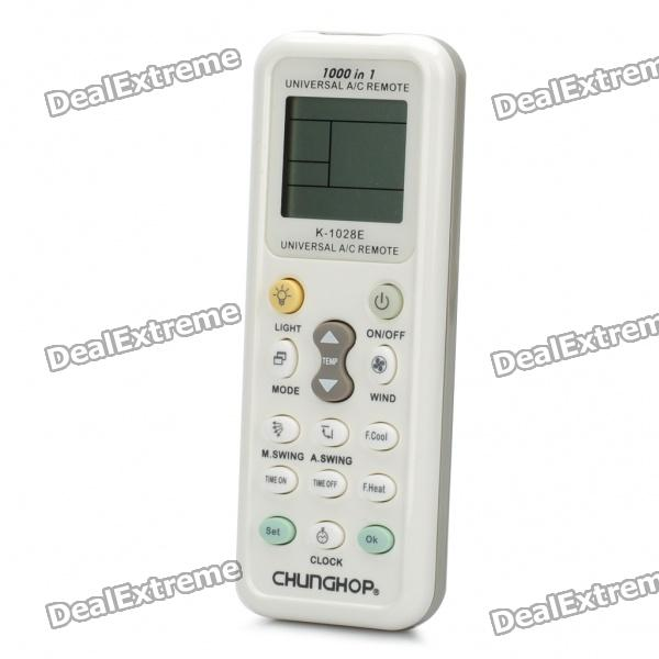 "Universal 1.5""LCD IR Air Conditioner Remote Controller - White"