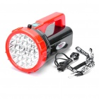 Intelligent High-brightness 30-LED Rechargeable Handheld Flashlight Lamp - Red + Black