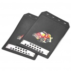 Plastic Car Auto Mud Guards - Black (Size S / Pair)