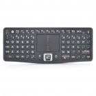 Rii Mini N7 Bluetooth 3.0 Wireless 79-Key Keyboard w/ Mouse Touchpad - Black