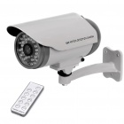 1/3 CMOS Water Resistant Surveillance Security Camera w/ 30-LED IR Night Vision - Grey + White