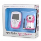"2.4GHz Wireless 8-LED Night Vision Camera with 2.5"" LCD Baby Monitor - Red + White"
