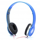 Designer's Fashionable Folding Portable Stereo Headphone - Blue