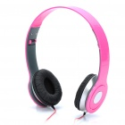 Designer's Fashionable Folding Portable Stereo Headphone - Pink