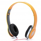 Designer's Fashionable Folding Portable Stereo Headphone - Yellow