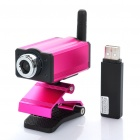 300KP 2.4GHz Wireless Surveillance Security Camera w/ USB Receiver - Deep Pink
