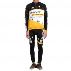 2011 Specialized Winter-Long Sleeve Sport Cycling Suit Jersey + Pants Set - Gelb (Größe-L)
