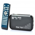 1080P HD Media Player mit VGA / YPbPr / HDMI / AV / Dual USB / SD - Schwarz