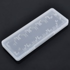 Plastic 5-in-1 Card Case for Sony PS Vita - Transparent
