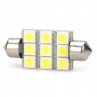 0.5W 60-80LM 6500-7000K 9-LED White Light Reading Lamp - White