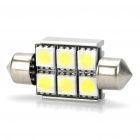 0.5W 40-50LM 6500-7000K 6-LED White Light Reading Lamp - 12V