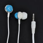 Designer In-Ear-Stereo-Kopfhörer - White + Blue (3,5 mm Klinke / 100cm-Kabel)