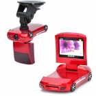 Mini Car Shape 3.0 Mega Pixel Night Vision Car DVR - Red