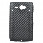 Protective Carbon Fiber PC Back Case for HTC G16 - Black