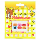 Cute Winnie the Pooh Figures Pattern Home Button Stickers for Samsung (6-Piece)