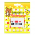 Cute Comme des Garcons Pattern Home Button Stickers for Samsung (6-Piece)