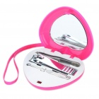 Personal Care Stainless Steel Beauty Manicure Set w/ Heart Shaped Carrying Case (3-Piece Pack)
