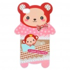 Cute Bear Style Protective TPU Back Case for Iphone 4 - White + Pink