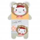 Cute Bear Style Protective TPU Back Case for Iphone 4 - White + Grey