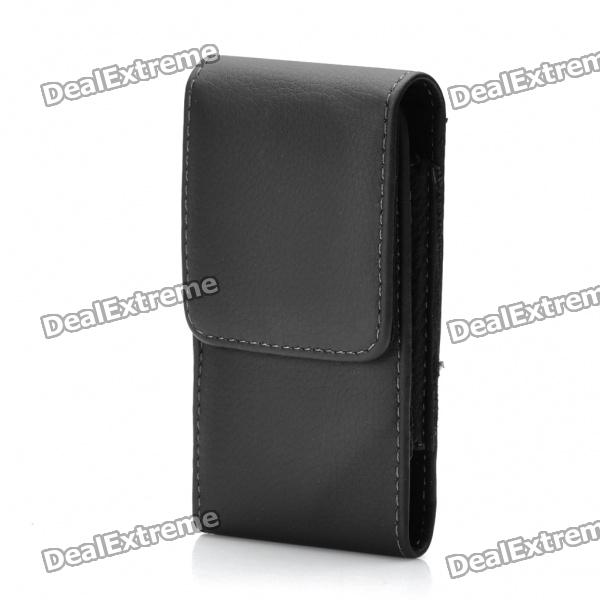 Protective Leather Case w/ Back Clip for Samsung Galaxy ACE S5830 - Black