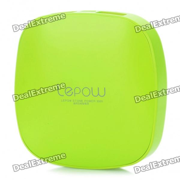 Wiederaufladbarer 3000mAh Externe Emergency Power Charger w / Ladekabel für iPhone / iPad - Green