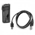USB 2.0 Emergency Charger with Data Cable for Samsung Galaxy - Black (2 x AA)