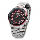 EYKI Stylish Stainless Steel Quartz Wrist Watch - Red + Black + Silver (1 x LR626)
