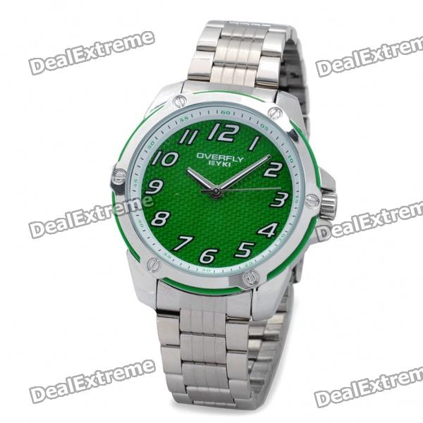 EYKI Water Resistant Stainless Quartz Movement Wrist Watch - Green + Silver (1 x LR626) coffee maker household coffee bean grinder
