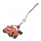 CARS Mater Style Silicone Pendant with Strap - Black + Brown (9CM-Length)