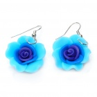 Stylish Morning Flower Style Clay Earrings (Random Color / Pair)