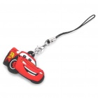 CARS McQueen Style Silicone Pendant with Strap - Red + Black (9CM-Length)