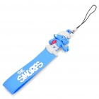 The Smurfs Style Silicone Pendant with Strap - Blue + White (15.5CM-Length)