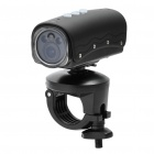RD32II 5.0MP Waterproof Wide Angle Sports / Car Camcorder w/ 2-LED / Red Laser / HDMI / TF - Black