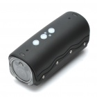 5.0MP Waterproof Wide Angle Sports / Car Camcorder w/ 2-LED / Red Laser / HDMI / TF - Black
