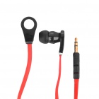 Designer Cool In-Ear-Ohrhörer - Red + Black (3,5 mm Klinke / 128cm-Kabel)