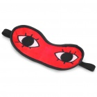 Cosplay Anime Gintama Okita Sougo Plush Eye-Shade - Red + Black