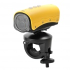 RD32II 5.0MP Waterproof Wide Angle Sports / Car Camcorder w/ 2-LED / Red Laser / HDMI / TF - Yellow