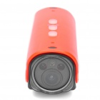 5.0MP Waterproof Wide Angle Sports / Car Camcorder w/ 2-LED / Red Laser / HDMI / TF - Red