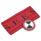 Persona Cosplay Armband and Badge Set (Red + White + Black)