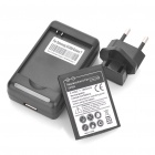 3.7V 1500mAh Battery + Battery Charging Station + EU Plug Adapter for Samsung Galaxy Y S5360