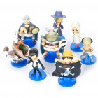 Cute PVC One Piece Anime Figures Toys w/ Bases (8-Piece Set)