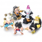 Cute PVC One Piece Anime Figures Toys Keychain (5-Piece Set)