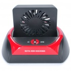 "USB 2.5"" / 3.5"" SATA HDD Docking Station w/ Cooling Fan / One Touch Backup - Black + Red"