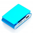 Recargable Clip-On Screen Free MP3 Player w / TF Slot / 3,5 mm - Azul