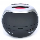 Mini Rechargeable Stereo MP3 Player Music Speaker with TF Slot - Black + Silver
